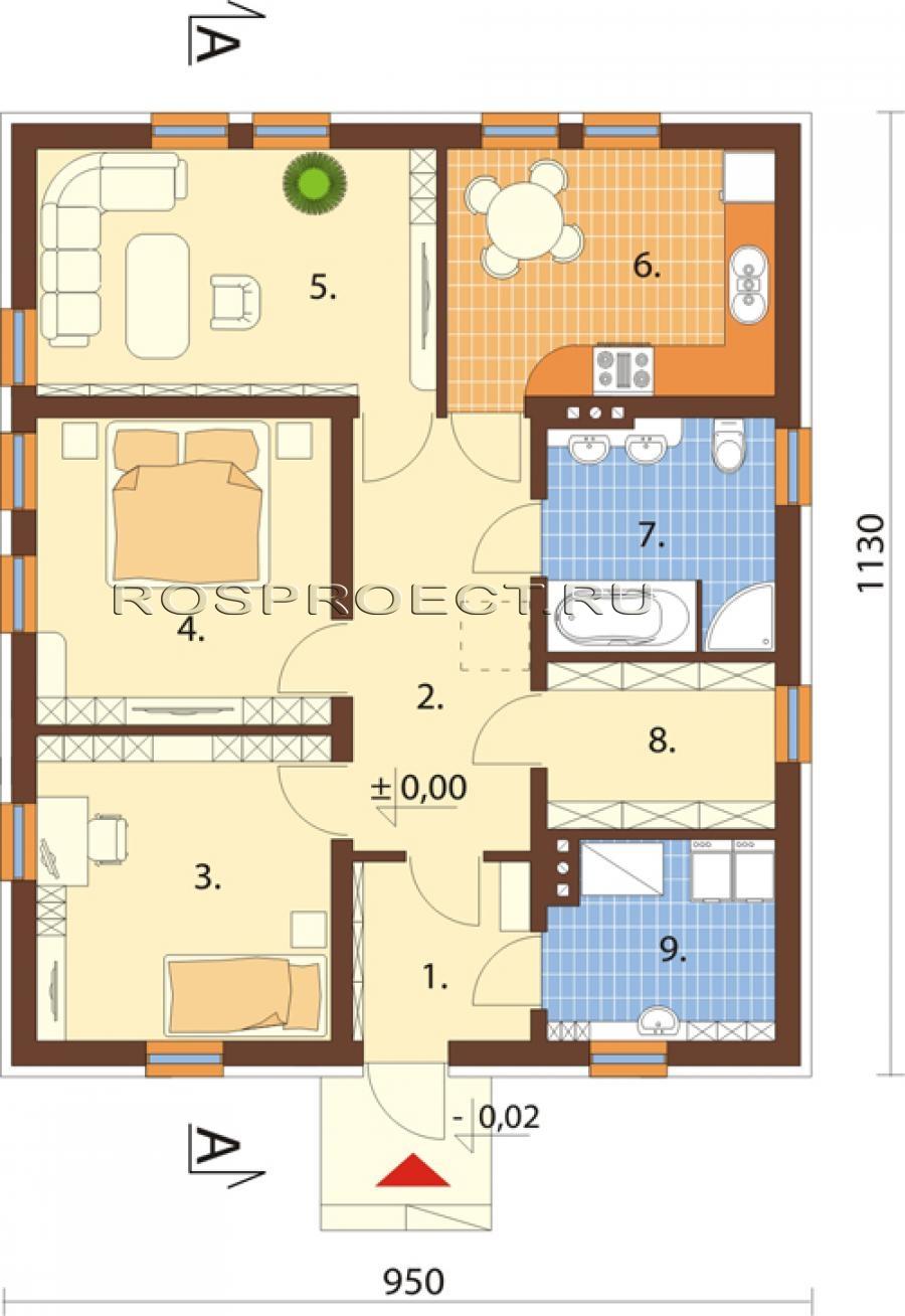 Идеальный дом: планировка дома 25
